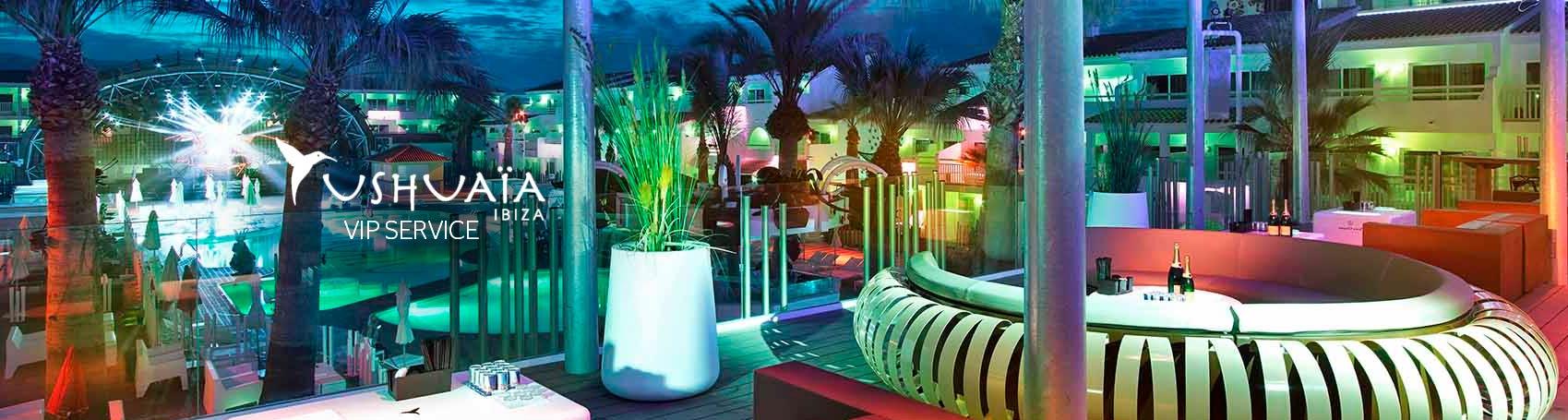 Table booking service beach club Ushuaia VIP in Ibiza. VIP services Ibiza. Consulting Services Ibiza