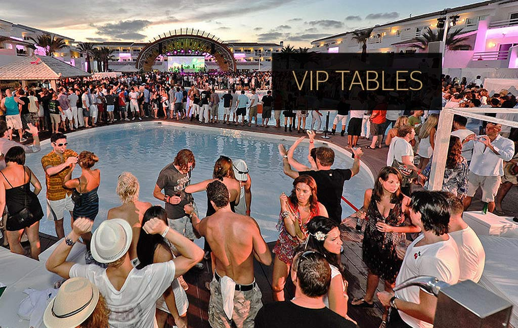 Booking service of VIP tables in Ibiza. VIP Services. Consulting Services Ibiza